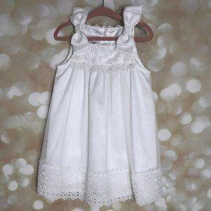 BONNIE BABY GIPIURE TULLE WHITE DRESS